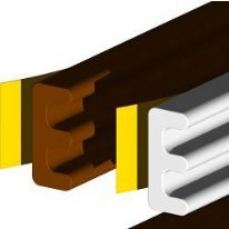 Stormguard Seal N Save EPDM 'E' Section - 5m - Brown